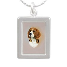 Beagle Silver Portrait Necklace