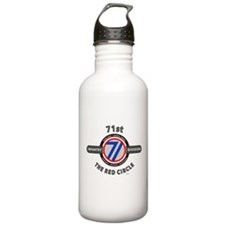 71st Infantry Division The Red Circle Water Bottle