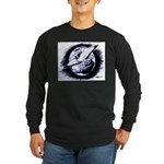 Earth Homer Pigeon Long Sleeve Dark T-Shirt