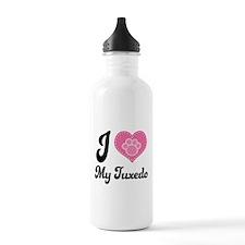 I Heart My Tuxedo Cat Water Bottle