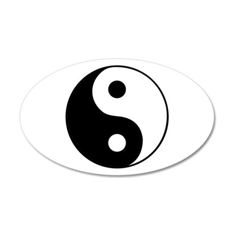 YingYang 20x12 Oval Wall Decal