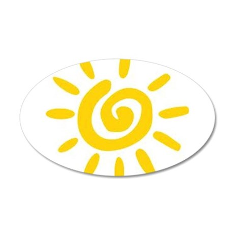 Sunshine 35x21 Oval Wall Decal