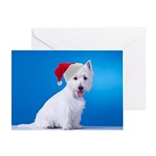 Santa Westie Card