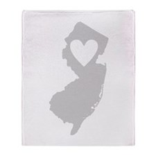 Heart New Jersey Throw Blanket