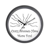 Crazy Women Wall Clock