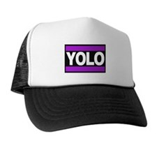yolo1 purple Trucker Hat