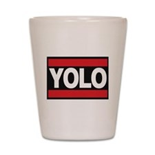 yolo1 red Shot Glass
