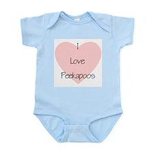 I Love Peekapoos (2) Infant Bodysuit