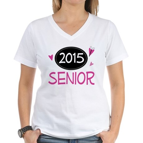 2015 Senior Class Pride Women's V-Neck T-Shirt