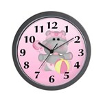 Baby Hippo Wall Clock