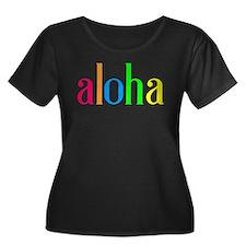 aloha: colorful Plus Size T-Shirt