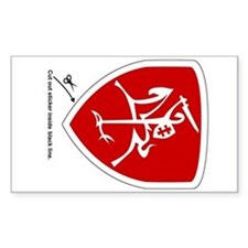 Red Vytis Car Sticker (Shield)