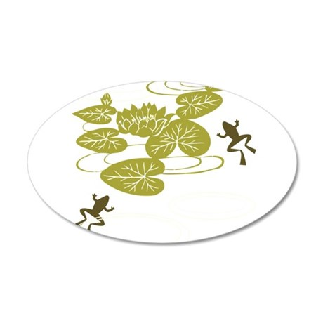 Frogs with Lily pads Wall Decal