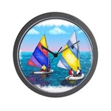 Sunfish Sailboat Wall Clock