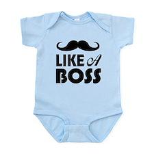 Mustache Like A Boss Body Suit