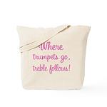 Trumpet Treble Music Tote Bag