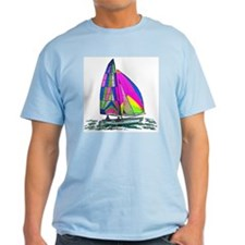 Hobie Cat Design Ash Grey T-Shirt