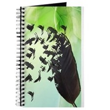 Crow Feather Green Journal