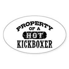 Property of a Hot Kickboxer Decal