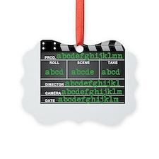 Movie slate Ornament