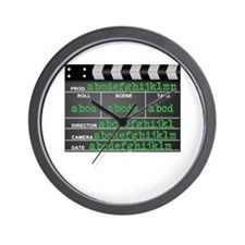 Movie slate Wall Clock