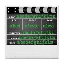 Movie slate Tile Coaster