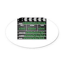 Movie slate Oval Car Magnet
