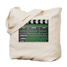 Movie slate Tote Bag