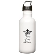 Queen of the Bitches with a crown Water Bottle
