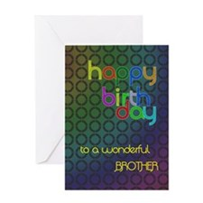 Birthday card for brother Greeting Card