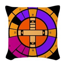 Star Trek computer clock Woven Throw Pillow