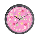 Lots of Flowers Wall Clock