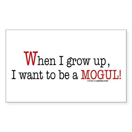 ... a mogul! Rectangle Sticker