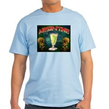 Absinthe Green Fairy Van Gogh Ash Grey T-Shirt