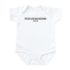 Polish Lowland Sheepdog Fan C Infant Bodysuit