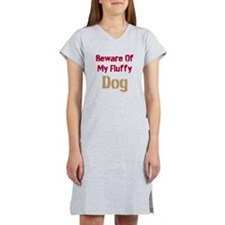 Beware Of My Fluffy Dog Women's Nightshirt