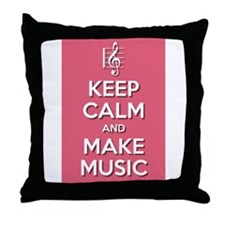 Make Music Throw Pillow
