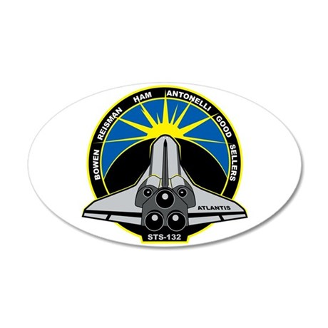 STS-132 20x12 Oval Wall Decal