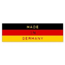 Made In Germany - Flag Bumper Sticker