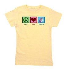Peace Love Unicorns Girl's Tee
