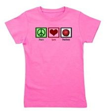 Peace Love Teachers Girl's Tee