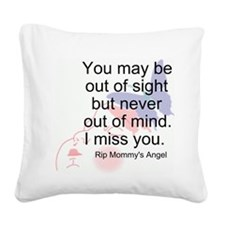 Never Out Of Mind Square Canvas Pillow