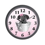 Dog Bath Wall Clock