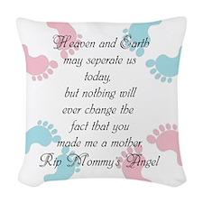 You Made Me A Mother Woven Throw Pillow