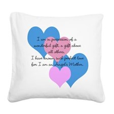 Angels Mother Square Canvas Pillow