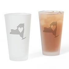 Heart New York Drinking Glass