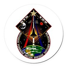 STS 129 Cloth Round Car Magnet