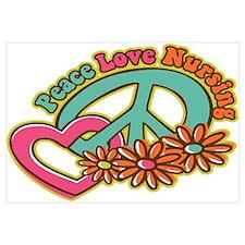 Peace Love Nursing Wall Art
