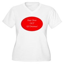 Keep Christ OUT of Christmas! - red oval Plus Size
