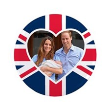 "Royal Baby - William Kate 3.5"" Button"
